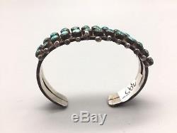 Fred Harvey Era Turquoise Manchette Bracelet Argent Ou Argent Serling