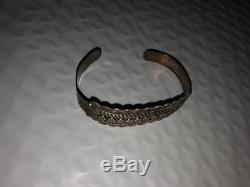 Fred Harvey Pièce Bracelet Argent Ih Estampillé Style Navajo Circa 1930
