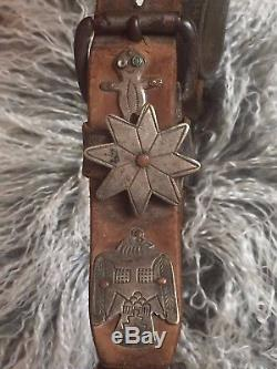Headstall Premier Argent Argent Fred Harvey Native American 1920