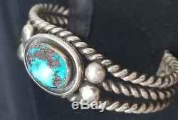 Lot De Cinq Bracelets Manchette En Argent Sterling Vintage Fred Harvey Era