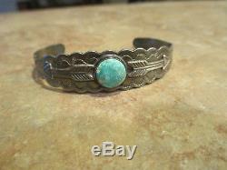 Old Fred Harvey Era Navajo Argent Flèche Sterling Turquoise Arrows Bracelet