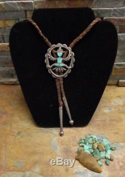 Old Horace Iule Museum Coutellerie Kachina Argent Turquoise Zuni Bolo Fred Harvey