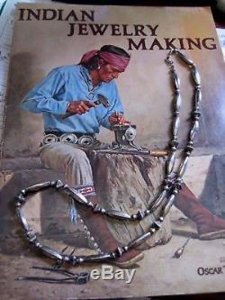 Vieille Pawn Collier De Perles De Banquette En Argent Sterling Avec Perles Navajo Close 24 Fred Harvey