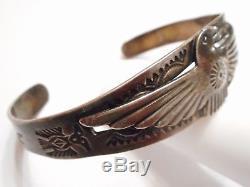 Vieille Pawn Fred Harvey Bracelet À Manchette Vintage Eagle Vintage Des Années 1920